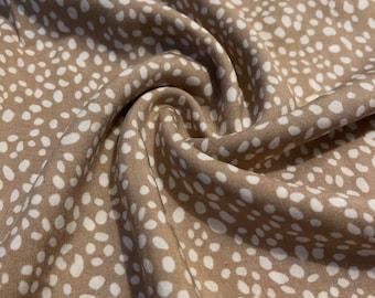 Rayon Challis Spots Print Fabric  2 Yards