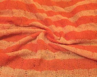 Sweater Crochet Fabric Translucent sequins design 1-1/2 Yards