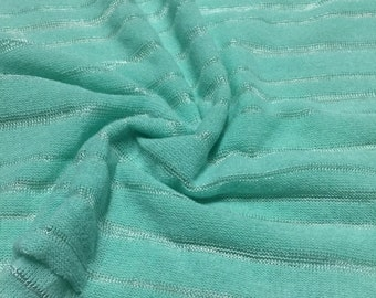 Stripe Design Sweater Knit Fabric 2-1/4 Yards