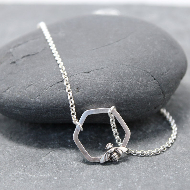 BEE MINE Necklace,Sterling Silver
