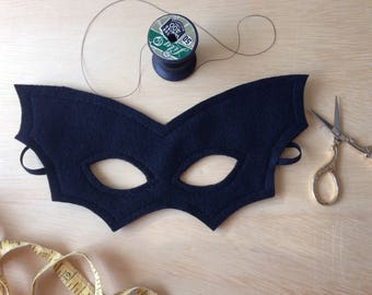 Child Size Black Bat Mask