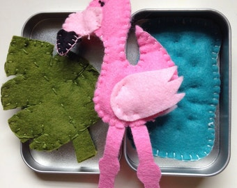 Tiny Toys for Travel - Flamingo