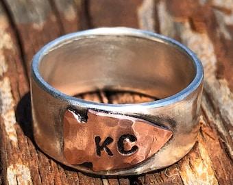 KC Chiefs Arrowhead Stacking Rings