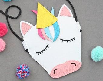Unicorn Purse - Unicorn Bag - Rainbow Unicorn Purse - Girls Rainbow Purse - Unicorn Crossbody Bag