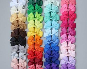 6cce9e78f005 40 Colors Ribbon Bow Clip Set - Ribbon Clip Set - 40 Bow Set - Bow Clips -  Rainbow Bow Clip Set