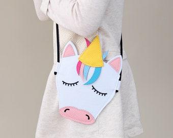 5b9c4f1b3ed6 Unicorn Purse - Unicorn Bag - Rainbow Unicorn Purse - Girls Rainbow Purse -  Unicorn Crossbody Bag