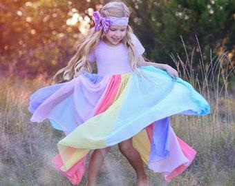 Lilax Little Girls Sparkle Polka Dot Twirl Dress