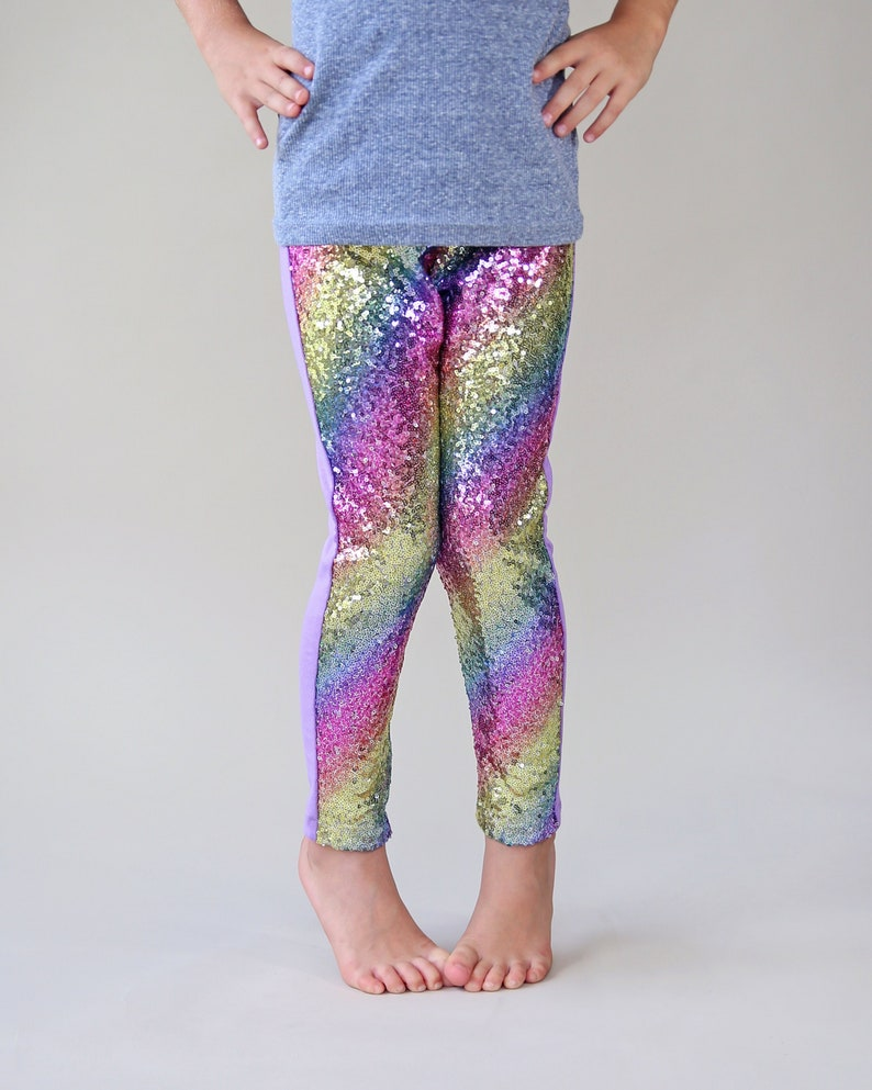 e1f8c2ff5776 Pastel Rainbow Sequin Pants Pastel Rainbow Leggings | Etsy