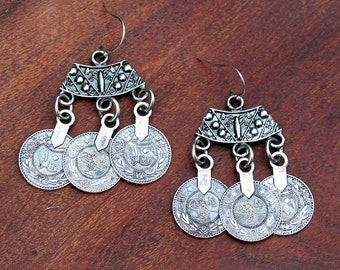 GypsyEarrings /Coins/ Boho Wear/Tribal / Gift for Her/Boho Chic/Tribal/Hippie/Belly Dancer/Bohemian
