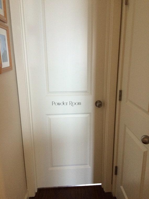 Removable Powder Room Door Decal Paris Bathroom Small Bathroom Closet Bathroom Parisian Decor Loo Tiny House Restroom Sign