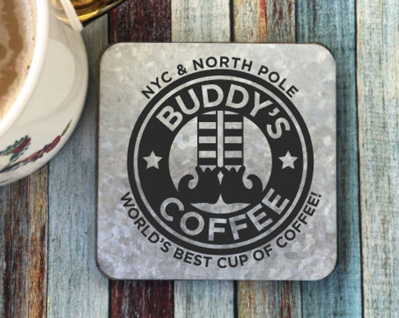 industrial metal coaster galvanized coaster Buddy/'s Coffee Coaster unique gift mug rug