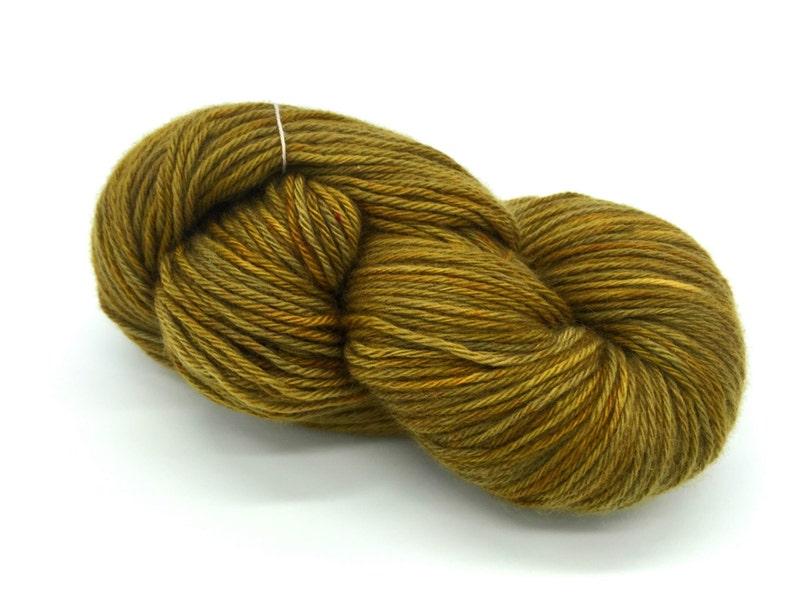 Light DK weight Golden Olive Cashmere Yarn