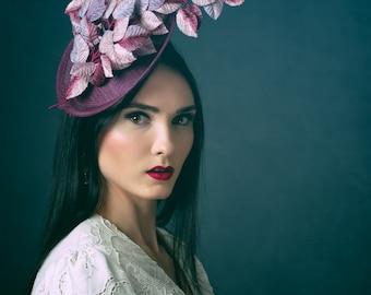 Kentucky Derby Hat Purple Headpiece