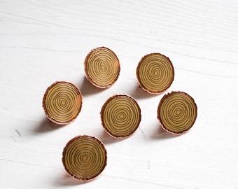 Wood slice pin - enamel pin - lapel pin - wood pin - cute pin - camping gift  - nature pin -  woodland pin - tree pin - tree gift