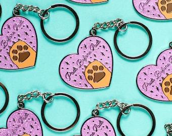Pads Before Lads Enamel Key Chain - dog key ring - cat key ring  - animal lover - pet key ring - cat gift - animal gift - dog gift - pets
