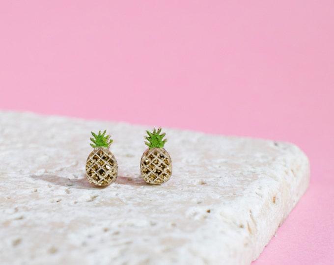 Pineapple Earrings - Pineapple Studs - Pineapple Jewellery - Fruit Earrings - Pineapple Gift - Fruit Earrings - Fruit Studs