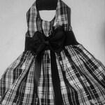 Dog clothes Black and White Taffeta Dog Dress 18.00