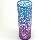 River Rocks Vase - Custom Painted Etched Glassware - Clear Style