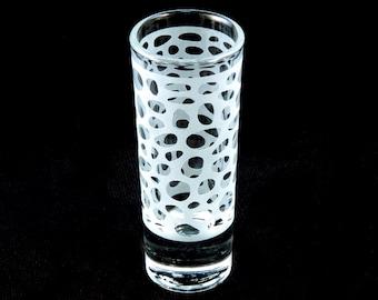 Leopard Spots Shooter Glass -  Animal Print Shot Glasses - Cordial - Aperitif - Digestif - Custom Etched Glass Barware