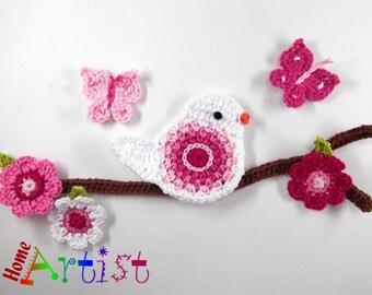 Crochet Applique Bird