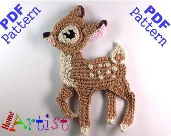 Deer Baby Fawn Crochet Applique Pattern