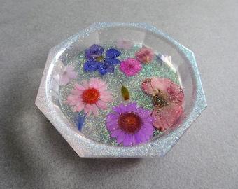 Resin Trinket Dish, A Walk in the Garden series - HANDMADE