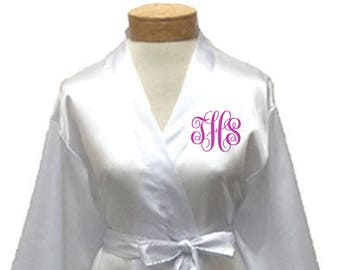 Personalized Robes, valentine's day, Wedding Robe, Bridesmaid gift, Bridesmaid robe, Custom Robe, Dorm Gift, embroidered robe,gift for bride