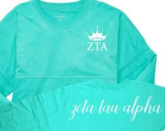ZTA, Zeta Tau Alpha, Zeta Tau Alpha Shirt, Sorority, Greek, ZTA Oversized T, Zeta Tau Alpha game day, greek letters, sorority shirt