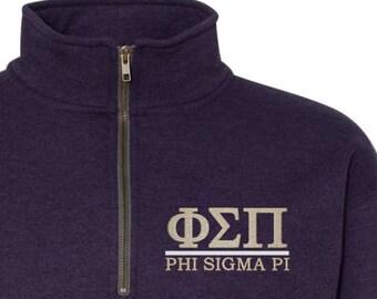 Phi Sigma Pi Phi Pi Phi Sigma Pi quarter Zip Phi Sigma Pi sweatshirt Phi Pi sweatshirt Phi Sigma Pi Shirt Greek gift sorority gift