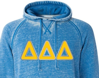 Delta Delta Delta, Tri Delta, Delta Delta Delta Shirt, Tri Delta Hoodie, Tri Delta letter shirt, sorority letters, Delta Letter sweatshirt