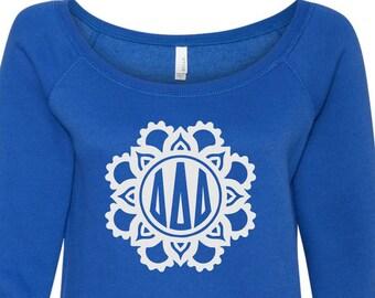 Delta delta delta, Tri delta, Tri Delta Sweatshirt, Delta delta delta Sweatshirt, Tri delta Shirt, sorority sweatshirt, greek sweatshirt