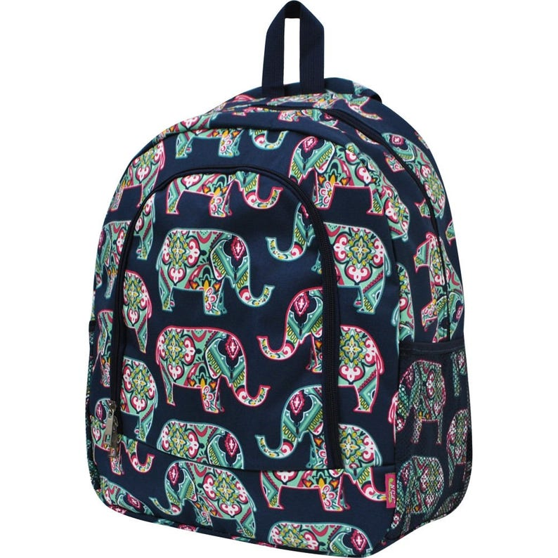 Diaper Bag Backpack Monogrammed Backpack Includes Embroidery Paisley Elephant Backpack Personalized Backpack Girl Backpack