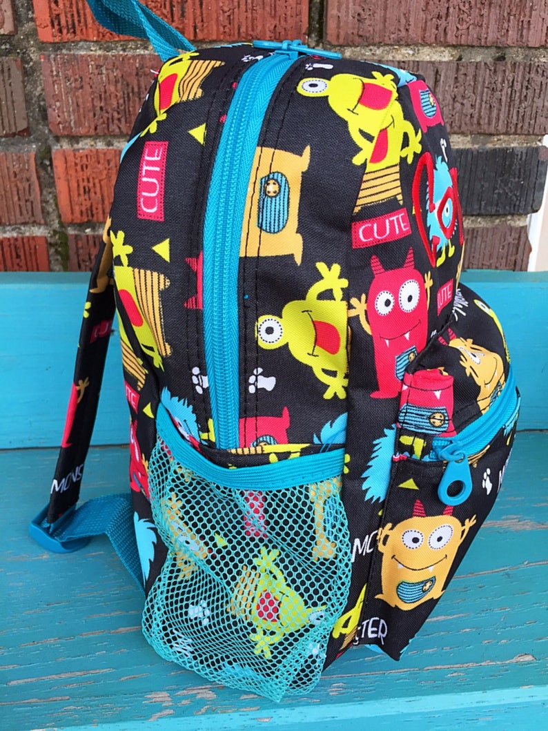 ba23a1eeb5a0 Personalized Boy Backpack-Monster Backpack Toddler Backpack