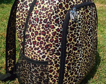 SALE Leopard Backpack Monogrammed Name or Initials of Your Choice