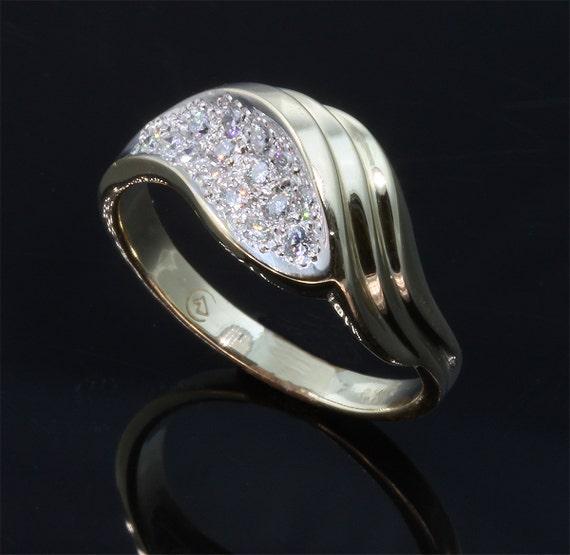 14K Gold Ring with .22tcw Diamond by Cavallo Fine Jewelry