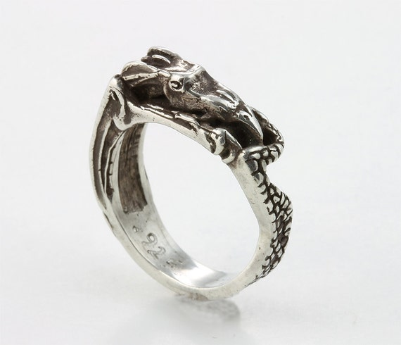 Sterling Silver Infinity Dragon Ring by Cavallo Fine Jewelry