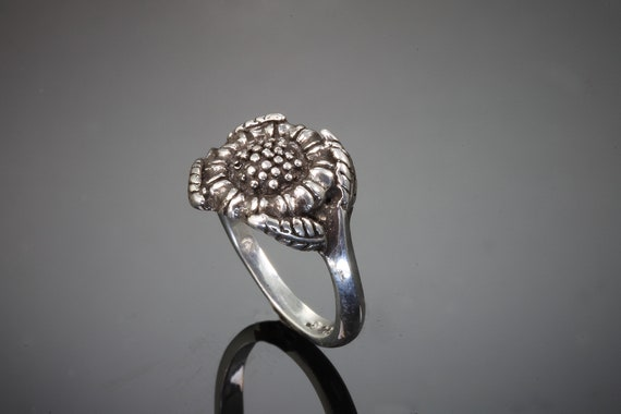 Sterling Silver Sunflower Ring by Cavallo Fine Jewelry