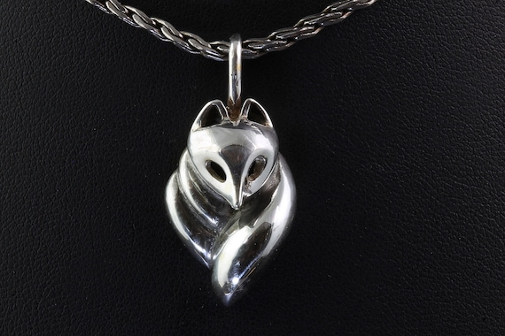 21st Century Fox Collection© sterling silver pendant, handmade jewelry, foxy lady Christmas gift idea, gift for her