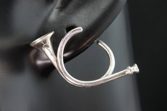 Sterling Silver Hunting Horn Earrings by Cavallo Fine Jewelry