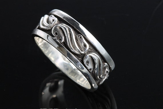 Sterling Silver Abstract Horse Head Band by Cavallo Fine Jewelry