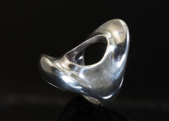 Vintage sterling silver ring by Alfred Karram, mid century modernist, fabulous statement jewelry