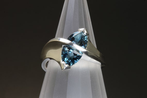 Sterling Silver and London Blue Topaz Ring by Cavallo Fine Jewelry