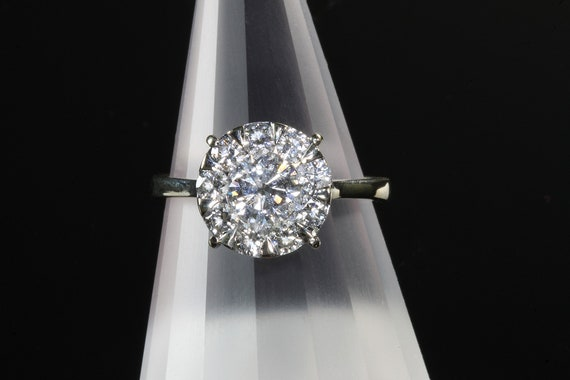 Vintage 18K White Gold Diamond engagement ring, yowza! 1.5 ctw eye clean, spectacular sparkles!