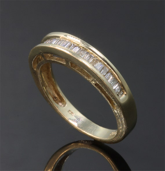 14K Gold and Baguette Diamond, .40 tcw, Vintage Wedding Band