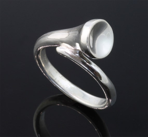 Golf Tee Ring in Solid Sterling Silver  by Cavallo Fine Jewelry