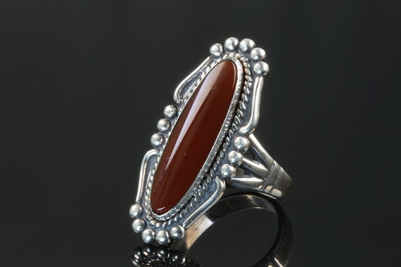 Vintage Bell Trading Post Sterling Silver Carnelian Ring, Navajo, Native American Jewelry, great gift idea, collectible, southwestern style