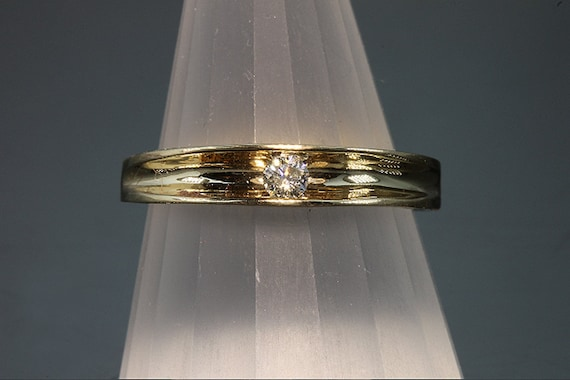 14K Gold and 10 pt Diamond Stackable Ring by Cavallo Fine Jewelry