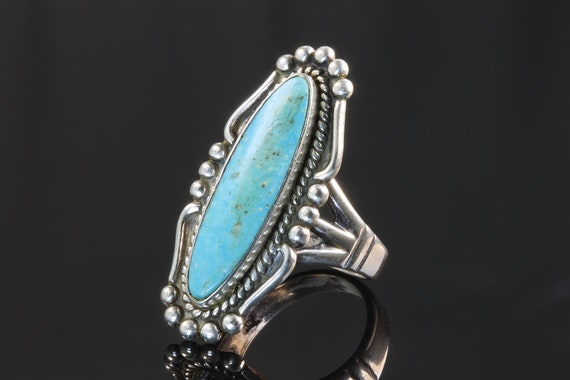 Vintage Bell Trading Post Sterling Silver CTurquoise Ring, Navajo, Native American Jewelry, great gift idea, collectible, southwestern style