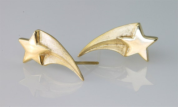 14K Gold Shooting Star Earrings by Cavallo Fine Jewelry