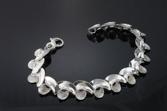 Sterling Silver Wave Bracelet by Cavallo Fine Jewelry